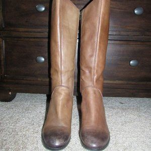 Lucky Brand Leather Studded Riding Boots
